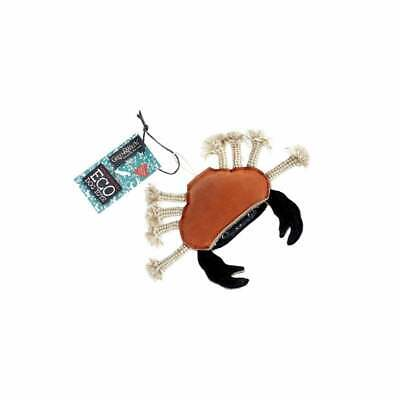 Carlos the Crab -  Eco Dog Toy Jute & Suede Green & Wild