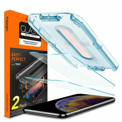 "iPhone 11 Pro XS Max Screen Protector 6.5"" EZ FIT Spigen,Tempered Glass 2 Pack"