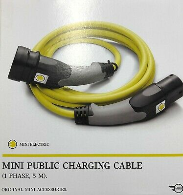 Genuine MINI Electric Public Charging 1 Phase Cable 5M Type 2 Con 61902454335