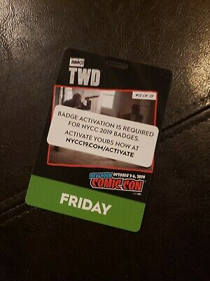 2019 NYCC COMIC CON FRIDAY BADGE (Fan-Verified)