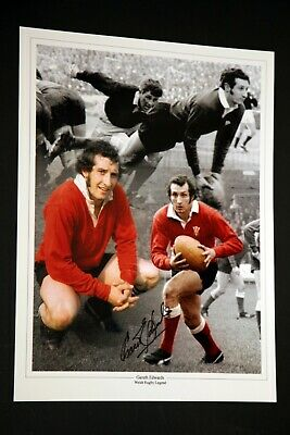 Gareth Edwards Wales Rugby Hand Signed 12x16 Photograph