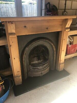 Victorian Style Cast Iron Fireplace and Fire Surround And Hearth