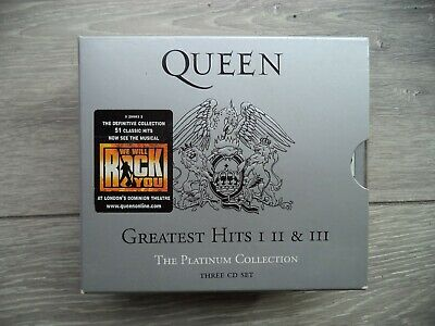Queen Greatest Hits 1, 2 & 3 - three cd set
