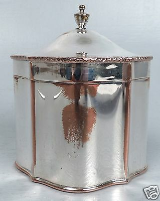 Old Or Antique English Sheffield Silver On Copper Silverplate Tea Caddy - SL