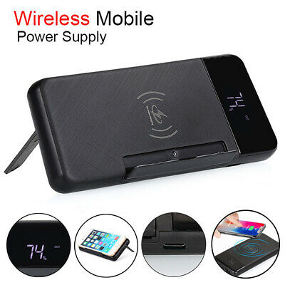 500000mAh Wireless Power Bank Dual USB Backup Battery Charger For Mobile Phone