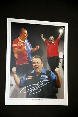 Phil Taylor Signed Darts 12x16 Photograph : D