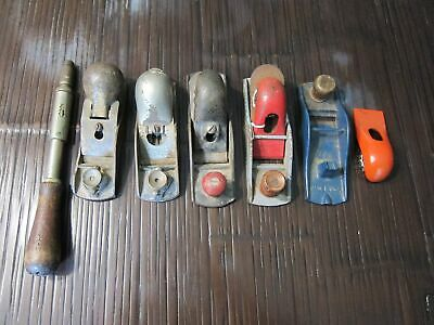 Lot vintage or antique tools 5 wood planes Sargent, Stanley more Yankee 30A