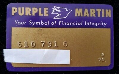 Purple Martin Oil - Vintage Credit Card expired 1976 ♡Free Shipping♡ cc14