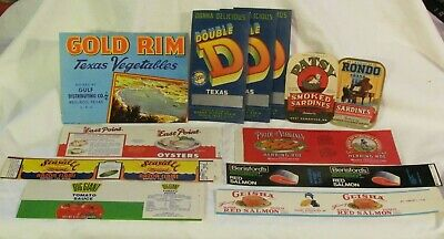 Vintage Lot of 12 Crate Can Labels