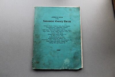 1998 ADDRESS BOOK OF THE LANCASTER COUNTY AMISH 94 Pgs Used