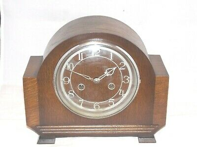 Enfield (Smiths) 8 Day Art Deco MANTEL CLOCK in Vry Good Working Order Mantle.