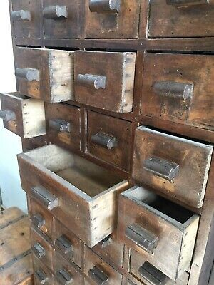 Tall Vintage Multi-Drawer Unit / Chest of Drawers / Apothecary