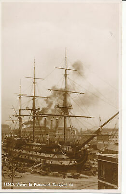 PC25306 H. M. S. Victory In Portsmouth Dockyard. S. and E. Norman. No 64. RP