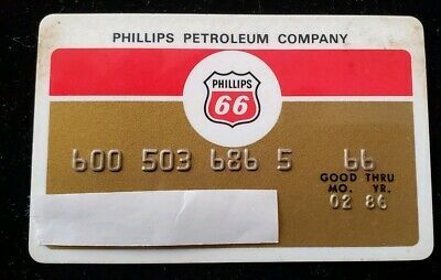 Phillips 66 Credit Card expires 1986 ♡Free Shipping♡ cc20