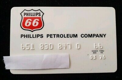 Phillips 66 Credit Card expires 1976 ♡Free Shipping♡ cc21