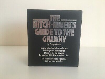 The Hitch-hikers Guide To The Galaxy Cassette Tape Box Set Audio Book with Case
