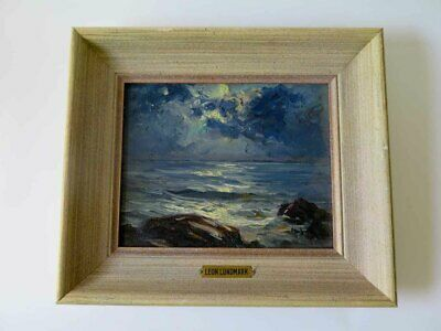 Original Oil Painting LEON LUNDMARK Seascape Signed #1