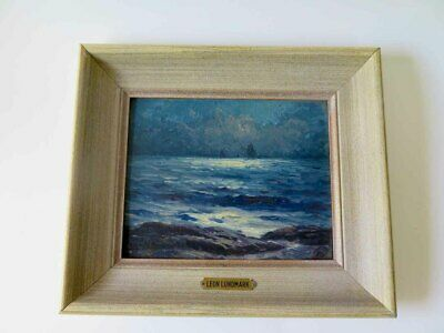 Original Oil Painting LEON LUNDMARK Seascape Signed #2
