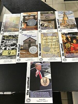 9 Coin Magazines The Centinel 2013-2019 Used Central States Numismatic Society
