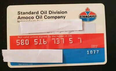 Standard Oil Company National Credit Card expired 1977 ♡Free Shipping♡cc33