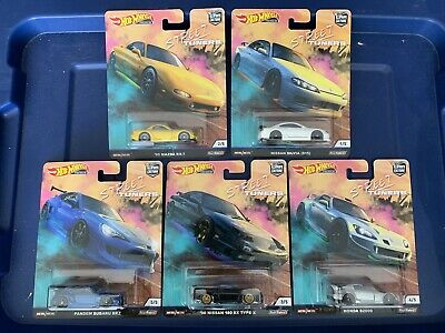 Hot Wheels 2019 Car Culture Series Street Tuners Complete 5 Car Set!