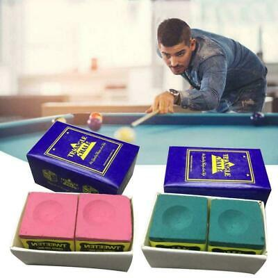 Triangle Cue Tip Chalk For Snooker Pool Billiard Tables Blue Mixed Red Gree I4Q0