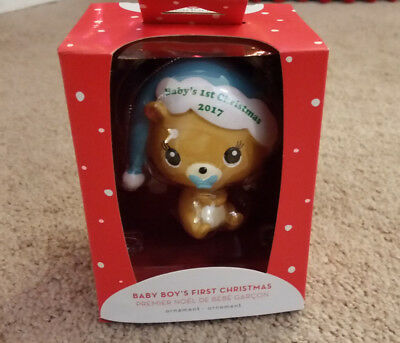 American Greetings Heirloom Ornament Baby Boy's First Christmas 2017 NEW!!!