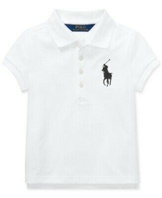 Polo Ralph Lauren Toddle Girls' Big Pony Stretch Mesh Polo -Little Kid Size-3-3T