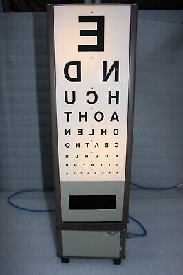 Rotating Vision Eye Testing Drum Chart - Used Vintage Opticians Optometrist