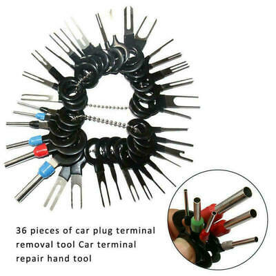 36PCS Car Terminal Removal Tools Kit Wire Connector Pin Release Extractor Puller