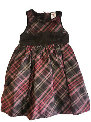 Baby Gap Girls Fall Dress Brown Pink Plaid 2T EUC Holiday Thanksgiving