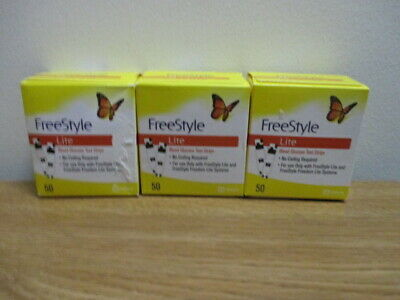 150 Freestyle Lite Glucose Test Strips - Exp. 12/2019