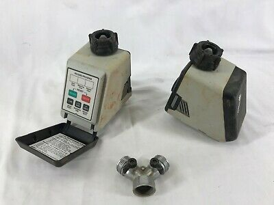 2 Gilmour 9100 Electronic Water Timers Set of Two plus hose splitter - Preowned