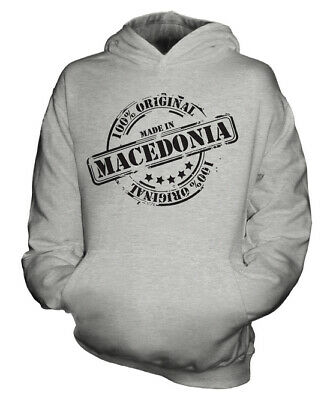 Made In Macedonia Unisex Kids Hoodie Boys Girls Children Toddler Gift Christmas
