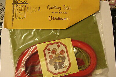 "Quill Art Quilling Kit ""Geraniums"" - Vintage Craft Kit"