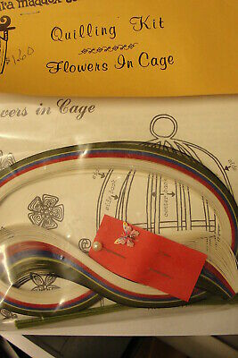 "Quill Art Quilling Kit ""Flowers In Cage"" - Vintage Craft Kit"