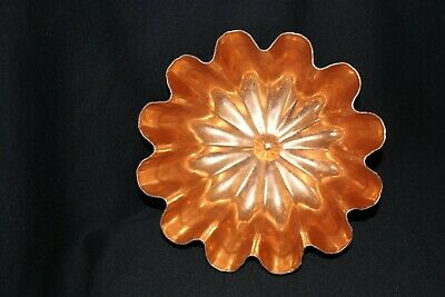 Vintage orangey gold anodised fluted jelly mousse mould