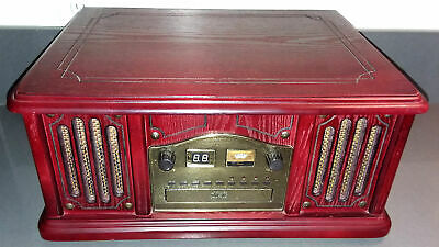 Leetac TAP-807 Nostaligia Wooden Music Center Turntable CD Player AM/FM Radio
