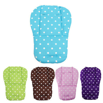 Baby Infant Stroller Seat Pushchair Cushion Cotton Mat White Dot #S5