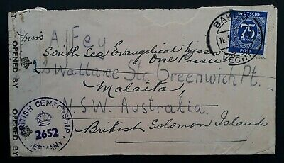SCARCE 1947 Germany (Allied Occ) Cover ties 75 Pfg stamp canc Bokum to Australia