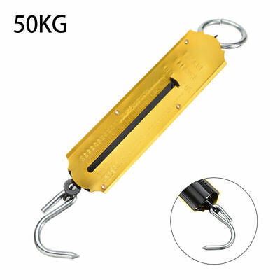 50kg Hanging Hook Handheld Mechanical Weighing Scale Luggage Heavy Duty Scale