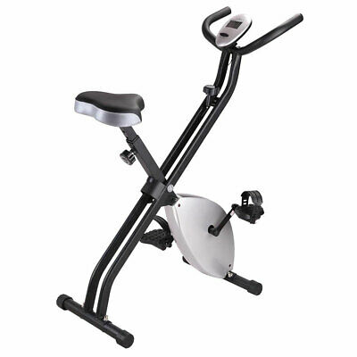 Foldable Exercise Bike Aerobic Fitness X-Bike Cycling Upright Workout Machine