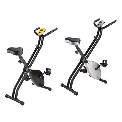 Folding Exercise Bike Cycling Cardio X-Bike Upright Workout LCD Display Machine