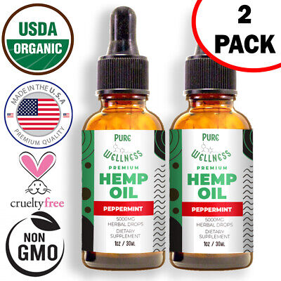 Hemp Oil 5000mg | Discover the Benefits of Hemp Oil Extract (2-Pack)