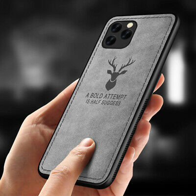 For iPhone 11 Pro Max XS XR X 8 7 6 Classic Fabric Hybrid Cloth Skin Case Cover