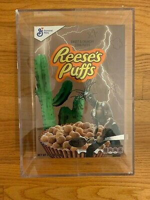 Travis Scott Reeses Puffs Cereal Special Edition Acrylic Box Brand New