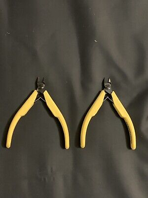 Pair 2x Lindstrom Oval Head Micro Bevel 8130 Copper Wire Cutter Plier Pliers