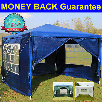 3x6m Sides Marquee Gazebo Tent Garden Party Waterproof Canopy Shelter Stronger
