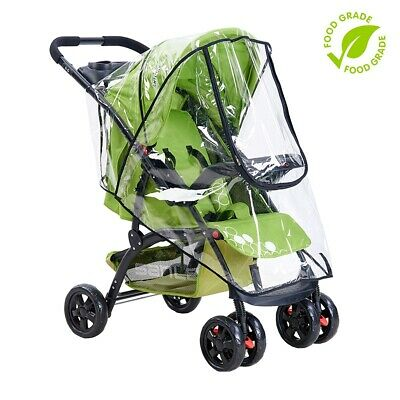 Standard Stroller Rain Cover Clear EVA Baby Stroller Cover Waterproof Cover - CA