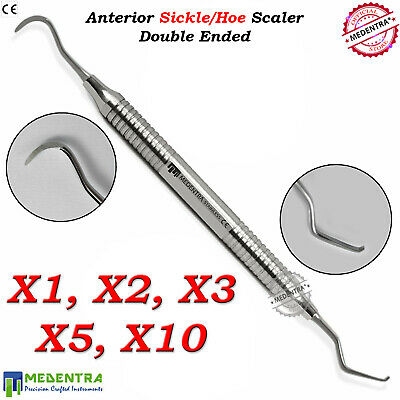 Anterior Sickle/Hoe Scaler Periodontal Dental Plaque Calculus Removal Double End